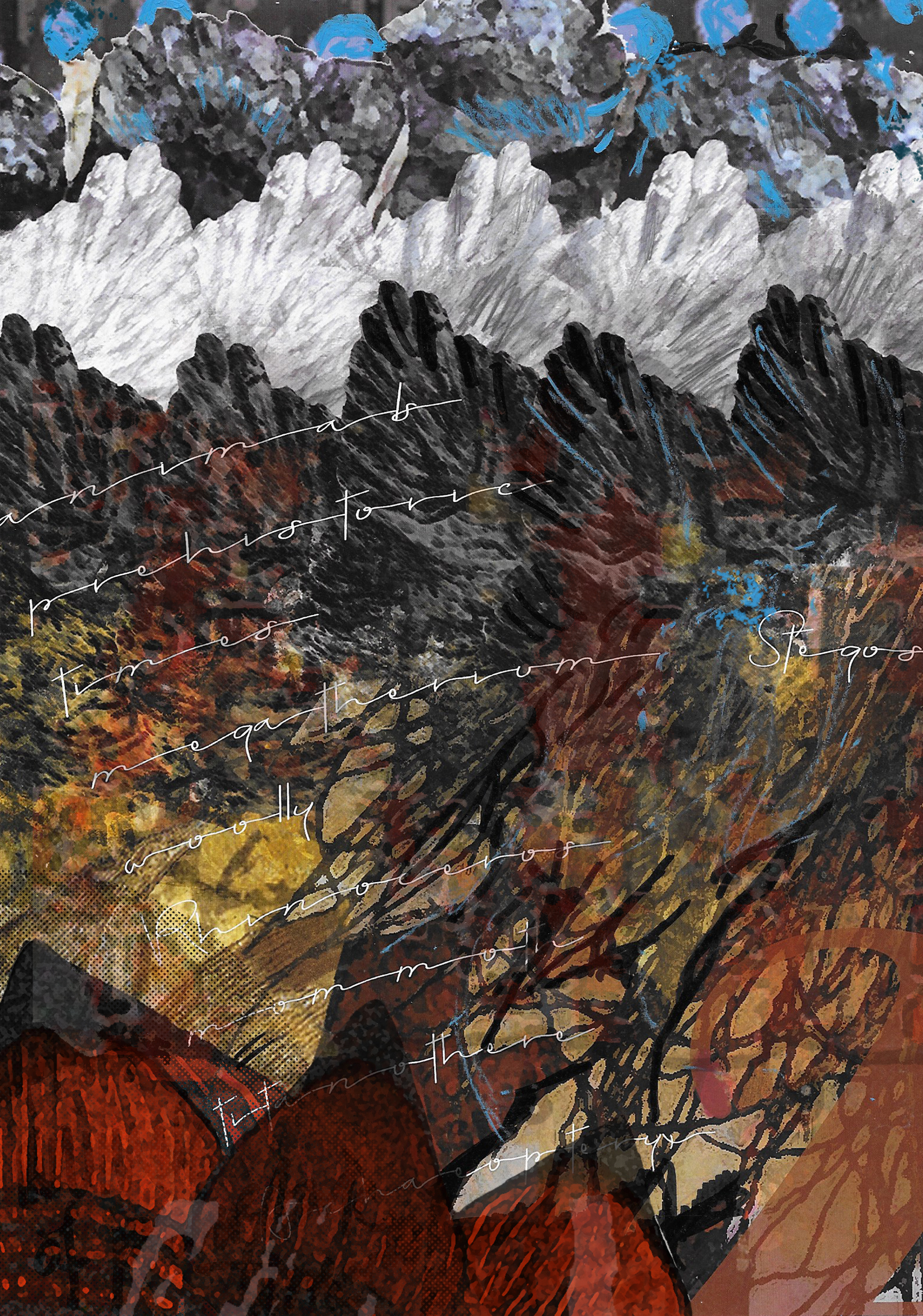 (54) Shauna Willett - Animals of Prehistoric Times - Plate 2, A Landscape Image