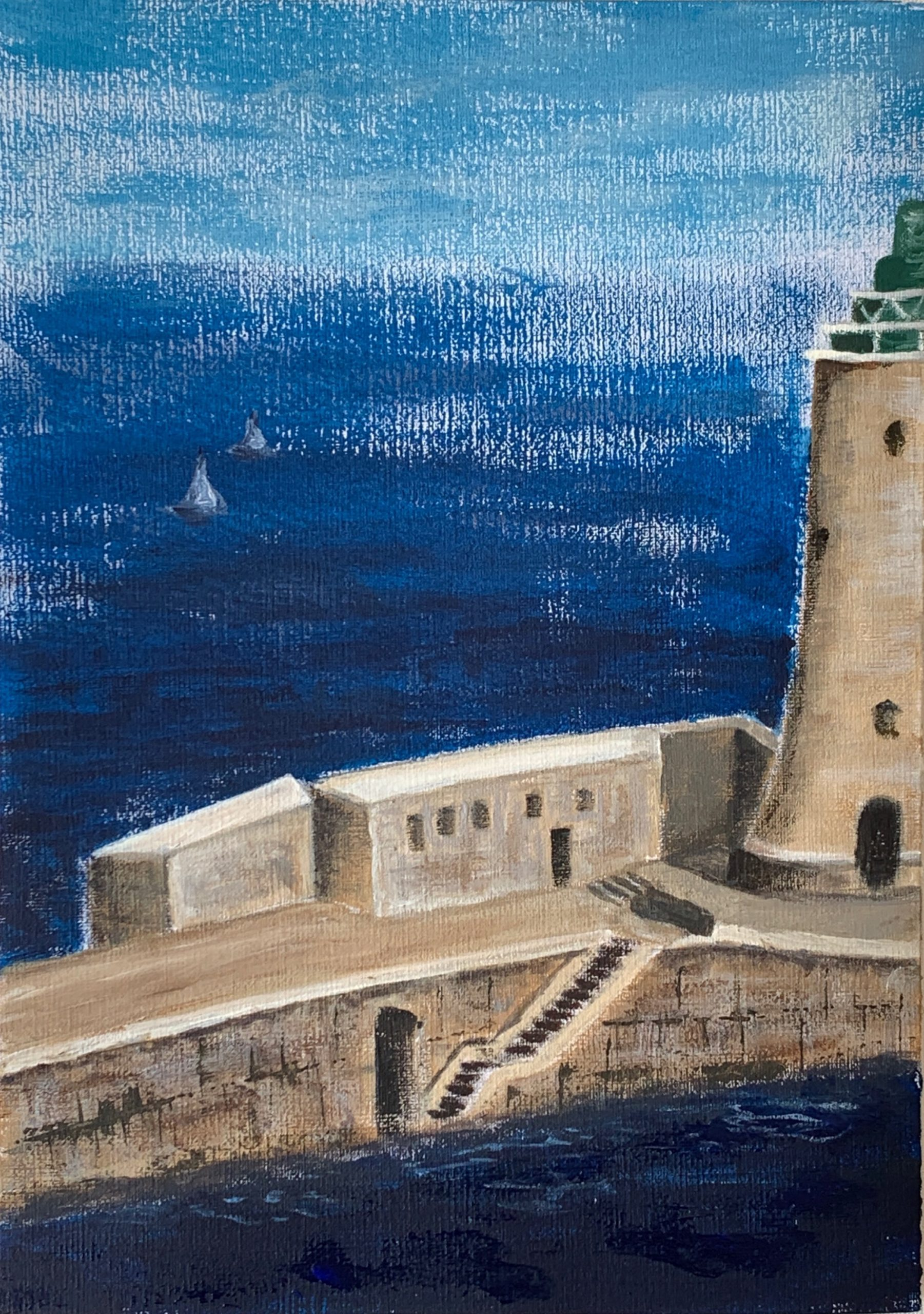 (69) Janine Hall - St Elmo Breakwater Lighthouse - Entrance to Grand Harbour - Valetta, Malta Image