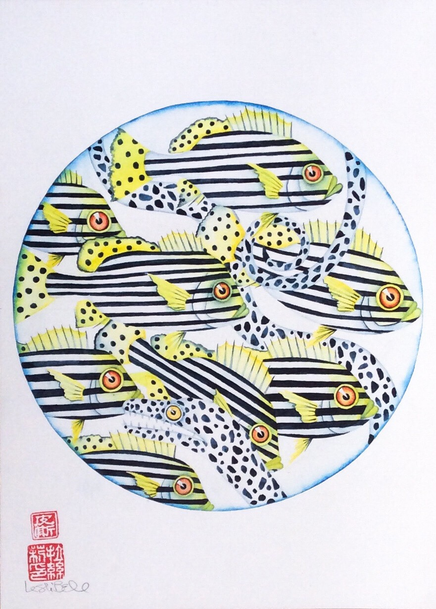 (63) Lesli Bell - Page 222- 'how fish keep warm' Image