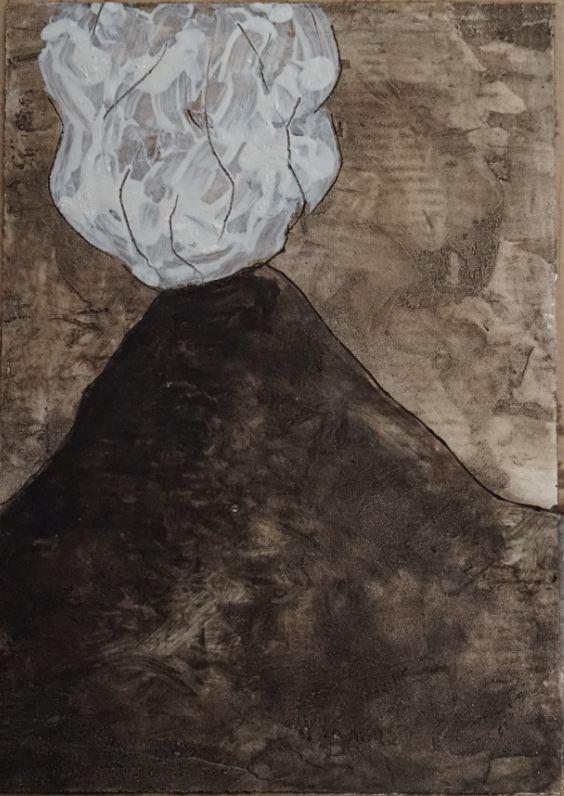 (57) Javier BAEZ BONORAT- Vesuvius in Sepia Image