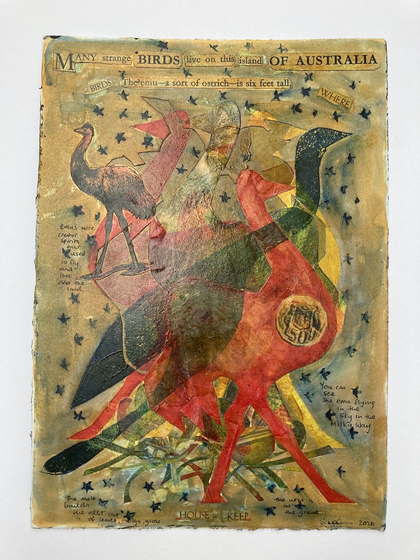 (196) Sheena Mathieson - House Keeping the Emu Image